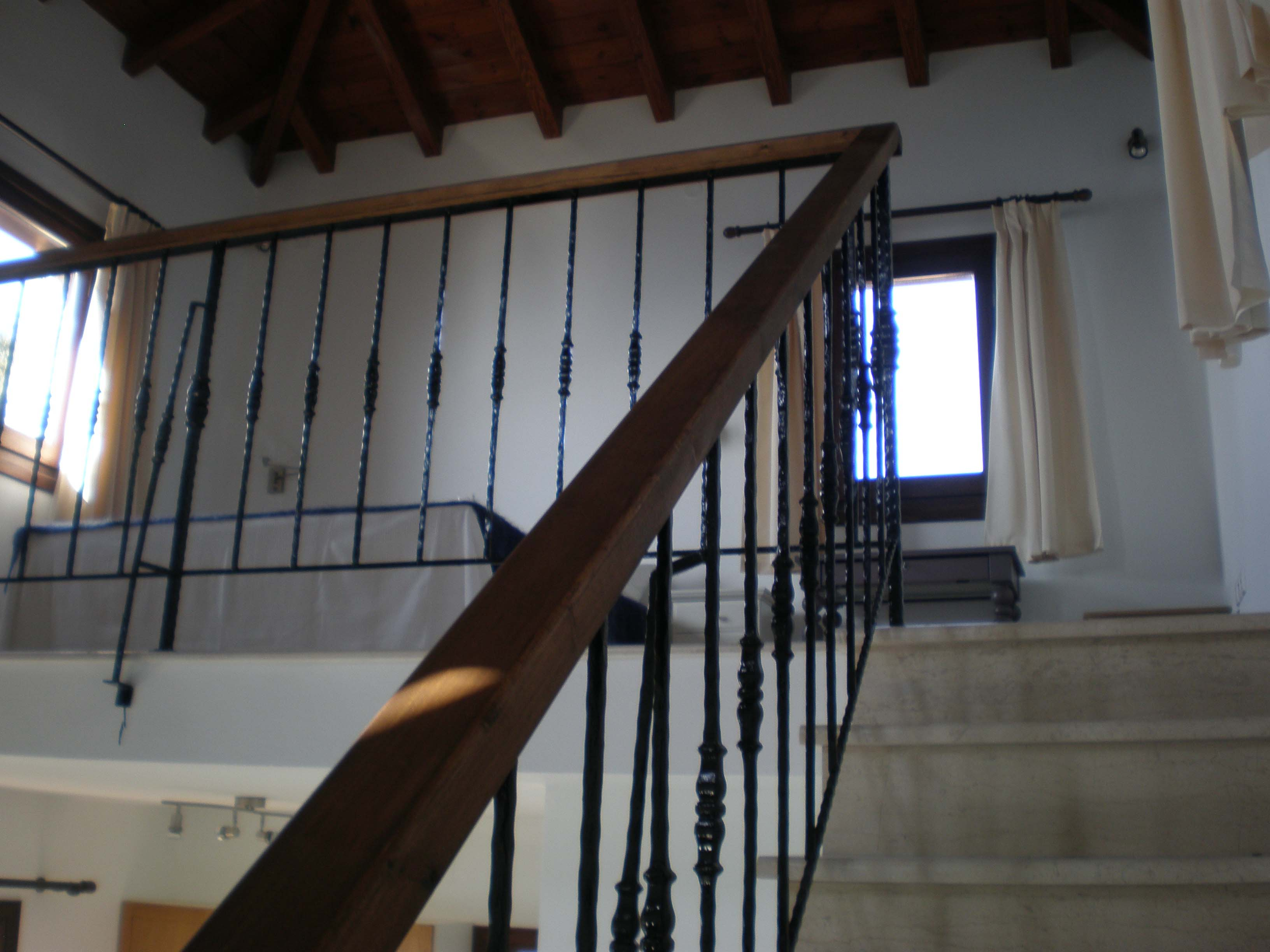 Stairs to galleried bedroom